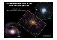 The formation of stars in the outer disks of galaxies - The low ...