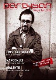 Cristian Vogel narodniki Malente - Partysan