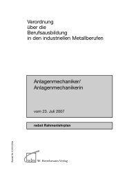 Verordnung über die Berufsausbildung in den industriellen ...