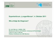 "Expertenforum ""Lungenfibrose"" - Lungeninformationsdienst"