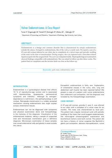Vulvar Endometrioma: A Case Report