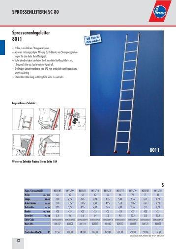 Hymer Anlegeleitern - Leitern Kesting