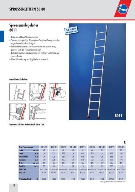HYMER 601110 Sprossenanlegeleiter SC60 10 Sprossen