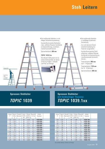 Layher Stehleitern beidseitig begehbar - Leitern Kesting