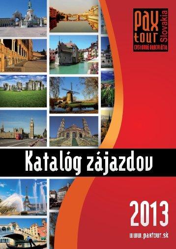 Katalóg zájazdov 2013 - Paxtour