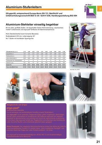 Günzburg Stehleitern einseitig begehbar - Leitern Kesting