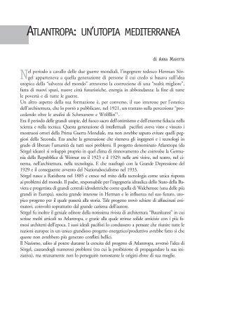 atlantropa: un'utopia mediterranea - La scuola di Pitagora editrice
