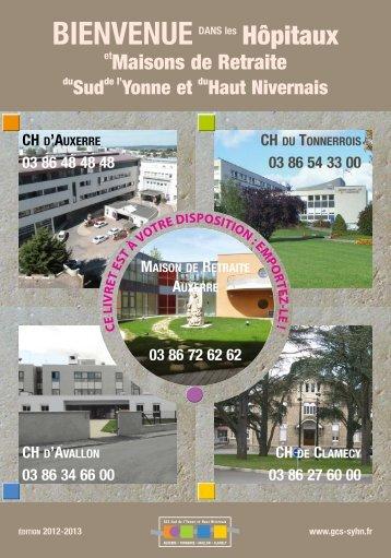 Télécharger le livret d'accueil 2012/2013 - GCS Sud de l'Yonne et ...