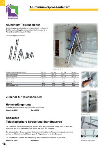Günzburg Teleskopleitern - Leitern Kesting