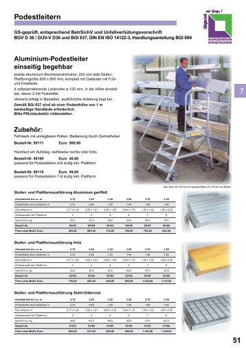 Günzburg Podestleitern - Leitern Kesting