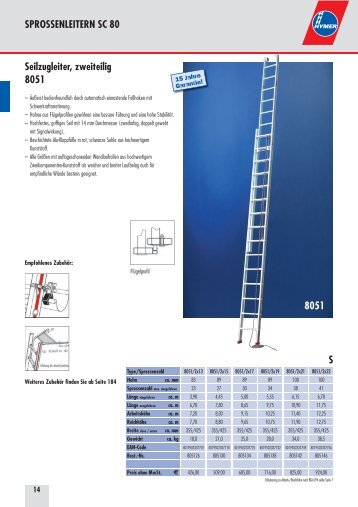 Hymer Seilzugleitern - Leitern Kesting