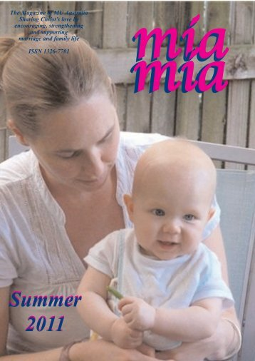 Mia Mia Summer 2011 Edition - Mothers Union - Australia