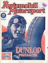 Automobil motorsport 1927 2. évfolyam 19. szám - EPA