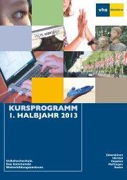 kursprogramm 1. halbjahr 2013 - Volkshochschule Ibbenbüren