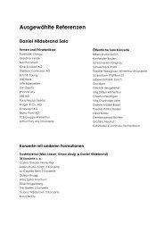 Ausgewählte Referenzen - Daniel Hildebrand