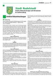 Amtsblatt 15/2007 vom 5. September 2007 - Rudolstadt