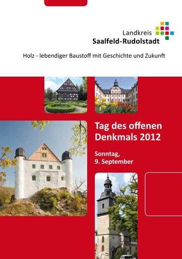 Tag des offenen Denkmals 2012 - Landkreis Saalfeld-Rudolstadt