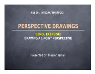 PERSPECTIVE DRAWINGS - Housing, Building & Planning - USM