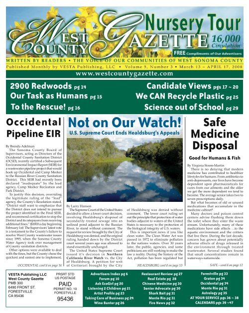 Download Entire Newspaper - The Sonoma County Gazette