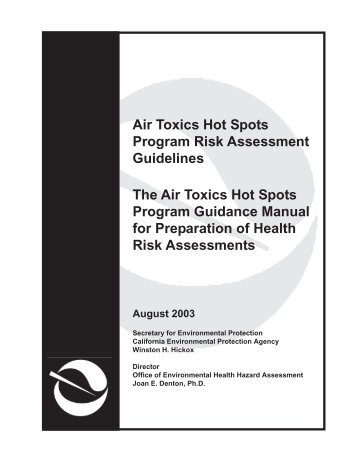 Air Toxics Hot Spots Program Risk Assessment Guidelines