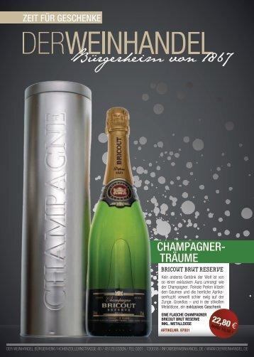 chaMPaGnER- tRäuME - Der Weinhandel Bürgerheim