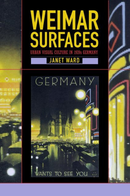 Urban Visual Culture in 1920s Germany - Townsend ities Lab on