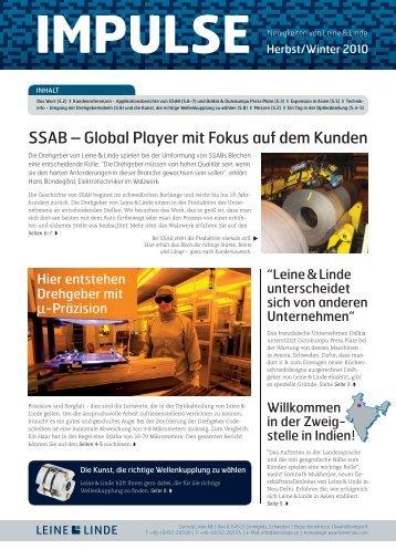 Impulse Nr. 1 – 2010 (PDF) - Leine & Linde
