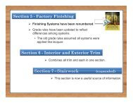 Section 5 - Factory Finishing Section 6 - Interior and Exterior Trim ...