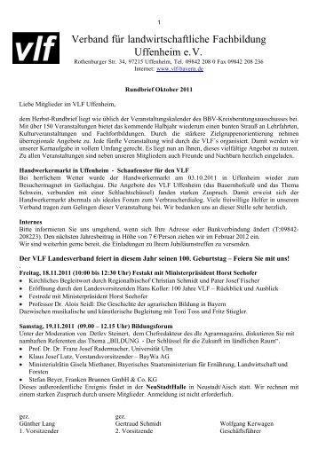 Verband für landwirtschaftliche Fachbildung Uffenheim e.V.