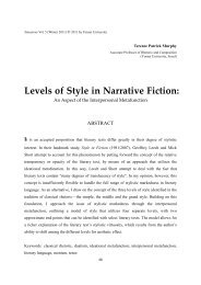 Levels of Style in Narrative Fiction: