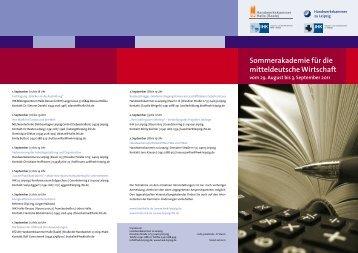 Sommerakademie für die mitteldeutsche Wirtschaft