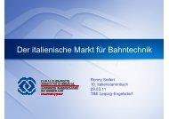 Der italienische Markt für Bahntechnik - Industrie- und ...