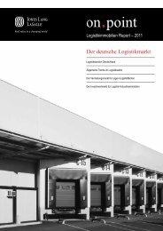 Jones Lang LaSalle Logistikimmobilien Report 2011