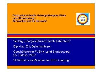 Energie-Effizienz durch Kalkschutz - Leipziger Buchmesse