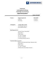 """""""Speichersystem"""" - Leipziger Messe"""