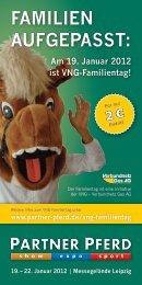 Am 19. Januar 2012 ist VNG-Familientag! - Leipziger Messe
