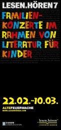 Familien- konzerte im rahmen von literatur Fur kinder