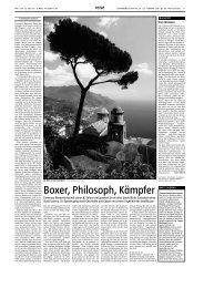 Boxer, Philosoph, Kämpfer - Italimar