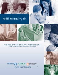 Foundations of Hawaii Pacific Health FY10 Annual Report to Donors