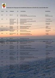 Januar bis März - beim Schwäbischen Albverein