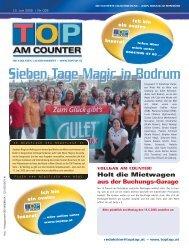 Sieben Tage Magic in Bodrum - top am counter