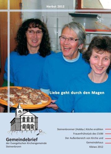 Herbst 2012 - evangelische Kirchengemeinde Steinenbronn