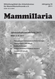 Mammillaria - Arbeitskreis für Mammillarienfreunde e.V.