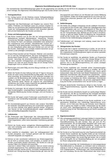 Allgemeine Geschäftsbedinungen der BYTiCS AG (PDF; 28 kB
