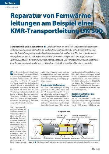 Reparatur von Fernwärme- leitungen am Beispiel ... - Nodig-Bau.de
