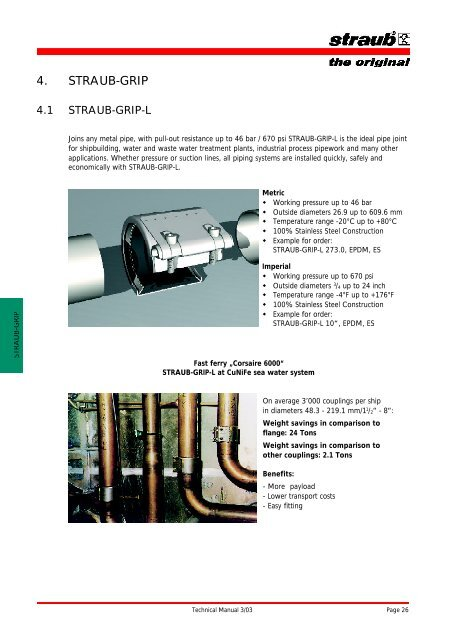 4  STRAUB-GRIP - Easier Pipe Joining With Straub
