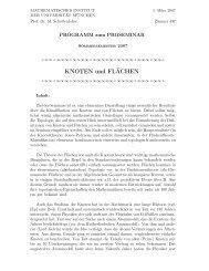 Programm - Mathematisches Institut der Ludwig-Maximilians ...