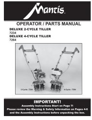 OPERATOR / PARTS MANUAL - Mantis
