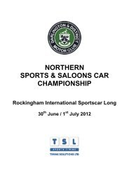 NORTHERN SPORTS & SALOONS CAR ... - TSL Timing