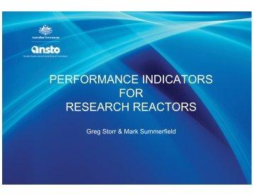 PERFORMANCE INDICATORS FOR RESEARCH REACTORS